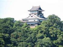 当館より望む国宝犬山城