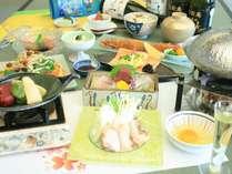 【春のおすすめ会席】名物「名古屋コーチン鍋」と「牛フィレ肉ステーキ」と春の山菜を味わう旬彩会席