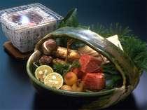 秋の味覚「松茸」と飛騨牛