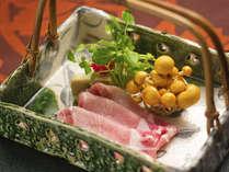 ■ケントン豚しゃぶ■岐阜きってのブランド豚。良質の脂身は甘味旨味申し分ない逸品です