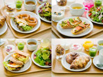 主食は日替わりのピタサンド・サンドイッチ・ペストリー・グラノーラからお好きなものを3種類!