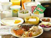 和洋食バイキングのご朝食一例(和食)