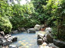 那須の自然に囲まれた露天風呂