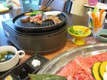 ささっと焼いて美味しく食べる―。焼きしゃぶをお楽しみください