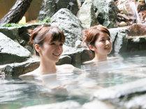 洲本温泉のお肌すべすべのお湯にゆったり露天風呂に。
