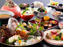 伊勢海老・栄螺と淡路牛を味わうなら、当館人気No.1の海幸三昧会席がおすすめ。