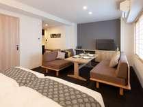 アパートメント(ソファーベッド)ハリウッドツイン2台ソファ―ベット。ダイニングテーブルで自炊可能♪
