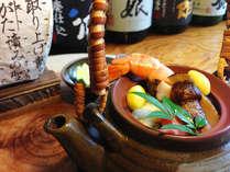 ◆秋の味覚♪松茸を食す◆松茸の香りと歯ごたえを存分に堪能頂ける『松茸の土瓶蒸し』と会津郷土料理
