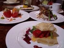 旬菜創作ディナー(例)季節に寄って変更もあります。