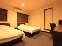 【ビジネスホテル井元別館】-ツイン-カップルやお友達での旅行にどうぞ。
