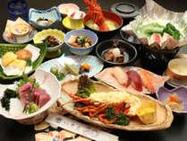 【華】井元の上級会席コース。店主自ら買い付けてきた旬の魚介類をふんだんに使用いたしました。