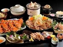 """◆かに満喫◆""""ズワイガニ""""3杯半使用!焼き蟹★茹で蟹★カニ鍋も!ドドーンと豪快!蟹三昧★彡"""
