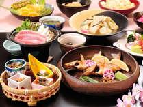 【春季限定】山菜とメバル・山形牛花かご会席◆春爛漫「春のごっつぉ」コース