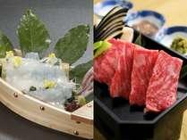 【今だけ!】白いか&しまね和牛の饗宴・贅沢会席 【抹茶でお出迎え・女性色浴衣貸出・餅つき大会特典付】