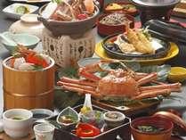 冬の味覚を味わう蟹フルコース★姿ゆで蟹・松葉蟹鍋・蟹釜飯をお愉しめ頂けます
