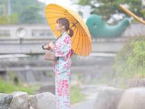 6月 雨の降る中でも楽しめますように!おしゃれな雨傘の貸出しあります。(要フロント相談)