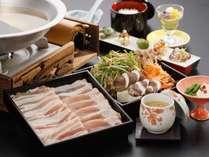 長栄館オリジナルブランド豚「育美豚(はぐみぶた)」のしゃぶしゃぶ御膳プラン