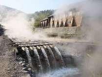【湯樋3】玉川温泉の源泉を直接、新玉川温泉まで引入れております。