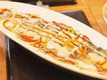 バイキング一例 日替り「白身魚の野菜あんかけ」