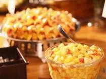 朝食バイキング一例 日替り 朝食フルーツ