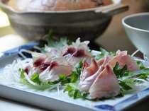 季節の旬魚をしゃぶしゃぶで楽しんでください♪(季節によって魚がかわります)