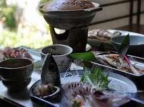日本海の旬がつまった会席料理(日本海の幸決定版:一例)