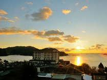 <12/31~1/1限定>太平洋から望む初日の出!新鮮魚介&豪快磯料理!展望温泉で太平洋一望/2食付