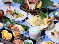 ■夕食一例■見た目も鮮やか♪目と舌でお愉しみいただけるお料理の数々。