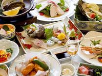 ■夕食一例■夕食は、広島ならではの食材や旬の味覚を盛り込んだ季節の和会席をご用意致します。