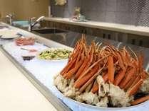 【ブッフェ】ズワイガニの食べ放題や海鮮丼などを御用意