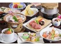 岩塩プレートで味わう特選和牛と海鮮の陶板焼きの贅沢プラン