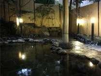 別館ビラにある露天風呂。