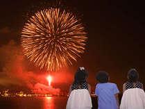 8/1~8/31は、毎日花火の打上あります。