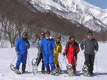 スノーシューでガイドと一緒に雪の野山をのんびりハイキング!雪の大自然を身近に体験できます♪