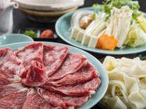 【赤城山麓牛しゃぶしゃぶ鍋】とろけるようなお肉を熱々のしゃぶしゃぶで