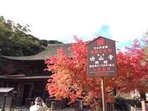 境内にある仏殿は鎌倉時代建立で、我国最古の物で国宝です。紅葉の時は必見です。