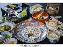 鍋の無いコースではありますが、白子豆腐グラタン、ぶっかけご飯は当館オリジナル料理。