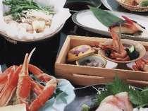 旬の食材を活かしておつくりいたします~会席料理イメージ(夕食)