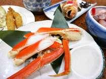 *夕食一例/ズワイ蟹の半身も付いて海の幸を満喫♪