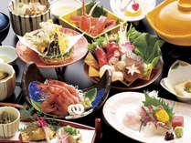 【おまかせ御膳】 ※日本海の海の幸を盛り込んだ切ガニ・甘エビ・お造り付(お献立一例)
