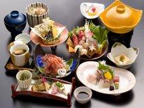 【おまかせ御膳】日本海の海の幸を盛り込んだお料理の数々(お献立一例)