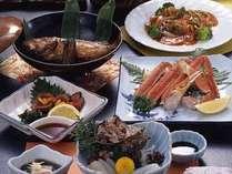 季節毎に代わります、日本海の新鮮な魚介料理をメインにしました会席料理をどうぞ♪※写真は一例