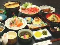 夕食一例(すき焼き膳)