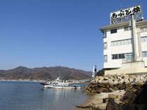 〔外観〕本土にありながら瀬戸内海をすぐそばに感じられ、お食事も眺望も楽しめます。