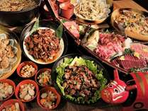ご夕食では約50種類のメニューに加えて会津の郷土料理をご提供しております!