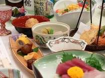 素材を大切にした季節の会席料理をお楽しみください。