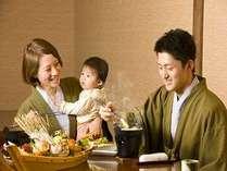 小さなお子様連れに夕食は個室食事処にてご準備♪(4席限定)