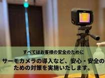 サーモカメラで体温検知