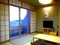 ■客室:相模湾を一望!全室から海を臨めます♪