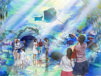 ★6/26OPEN【うみがたり】話題の水族館に行こう♪~極楽プラン/2食付き